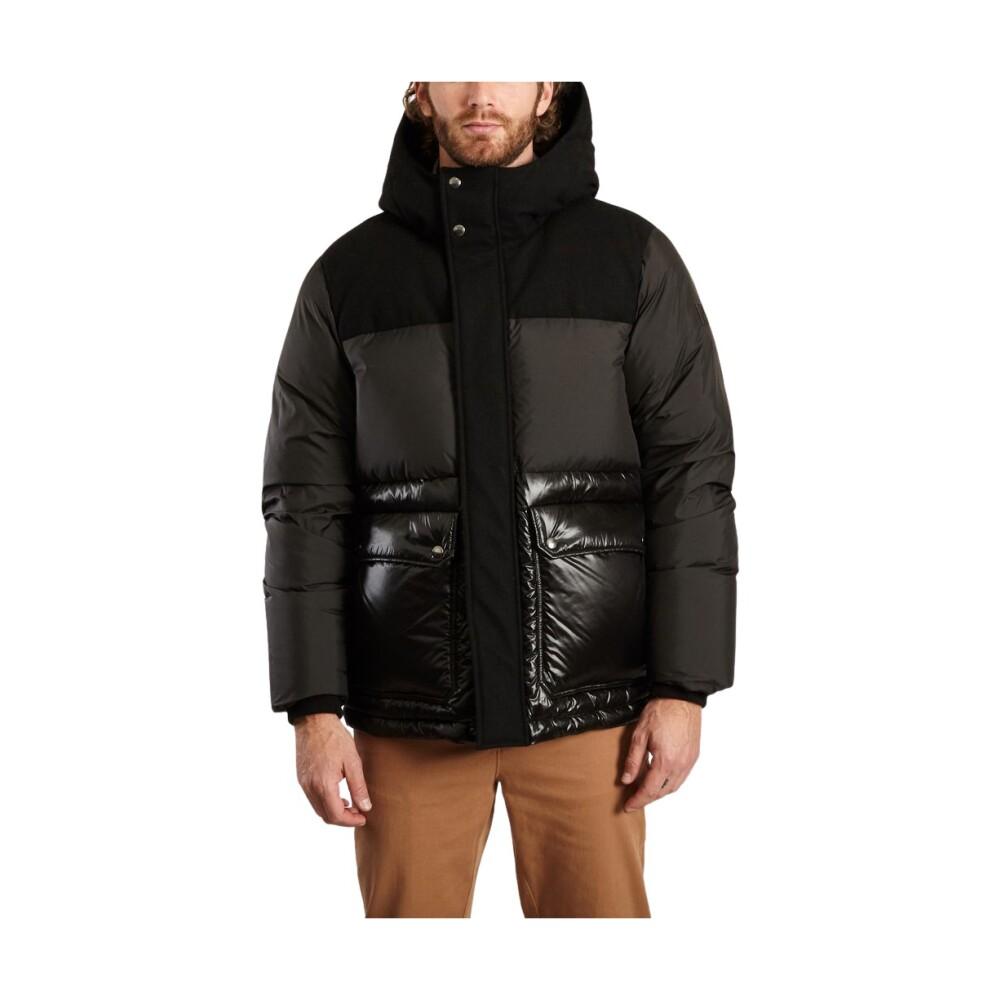 Intarsia Puffer Jacket