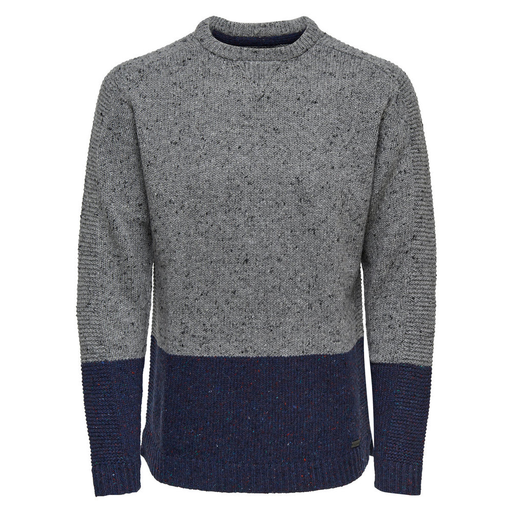 Knitted Pullover Contrast