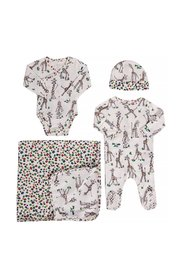 Romper, body, hat and blanket set