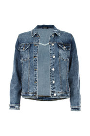 Denim Print Jacket