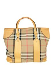 Large Checked Tote