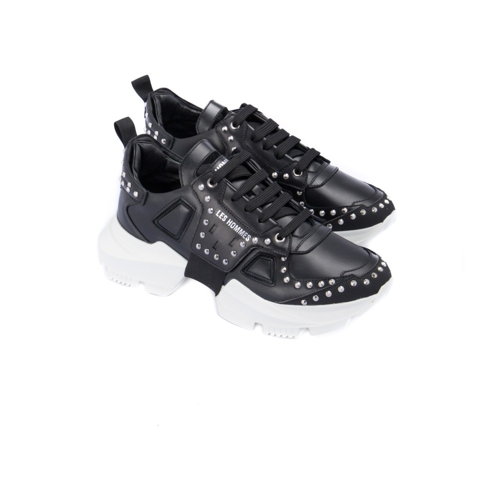 Black Sneakers with maxi sole | Les Hommes | Sneakers | Men's shoes