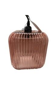Super flot rillet glas lampe