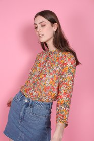 Bloom Blouse - Blazing Orange