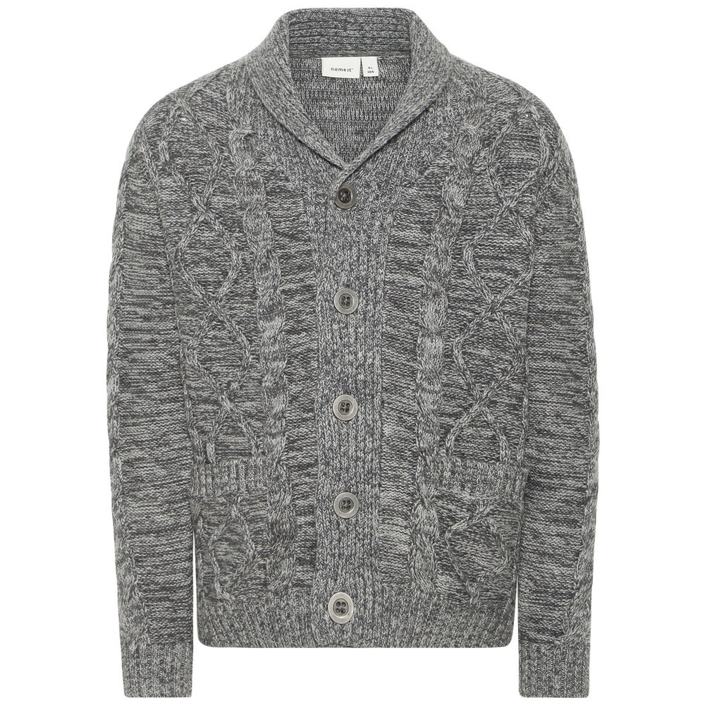 Cardigan cable knitted cotton