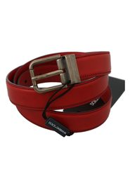 Leather Gray Metal Buckle Belt