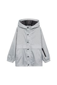 Hooded zip-up jacket
