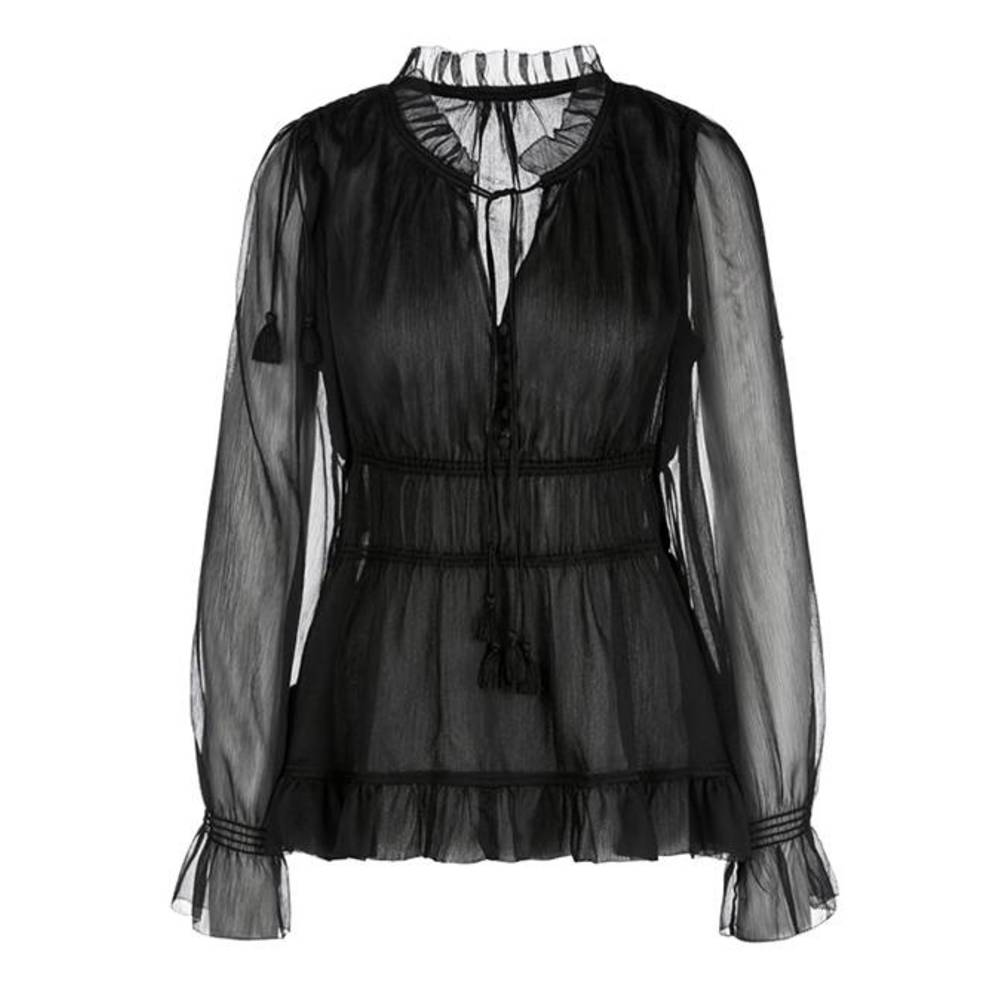 MARCCAIN COLLECTIONS LC 51.02 W59 Blouse div. Zwart