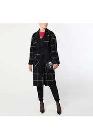 Karl lagerfeld double face wrap coat