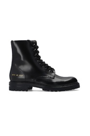 'Combat' ankle boots