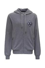 Zip-up Hoodie with Monogram Patch