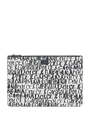 Dauphine leather clutch