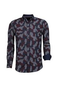 Italiaanse Overhemden - Blouse Dotted Camouflage Pattern