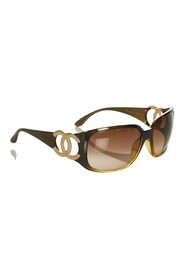 Pre-owned CC Oval Tinted Sunglasses Plastic Others