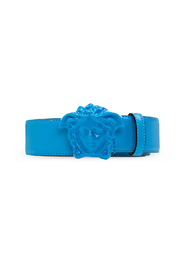 Leather belt with Medusa buckle