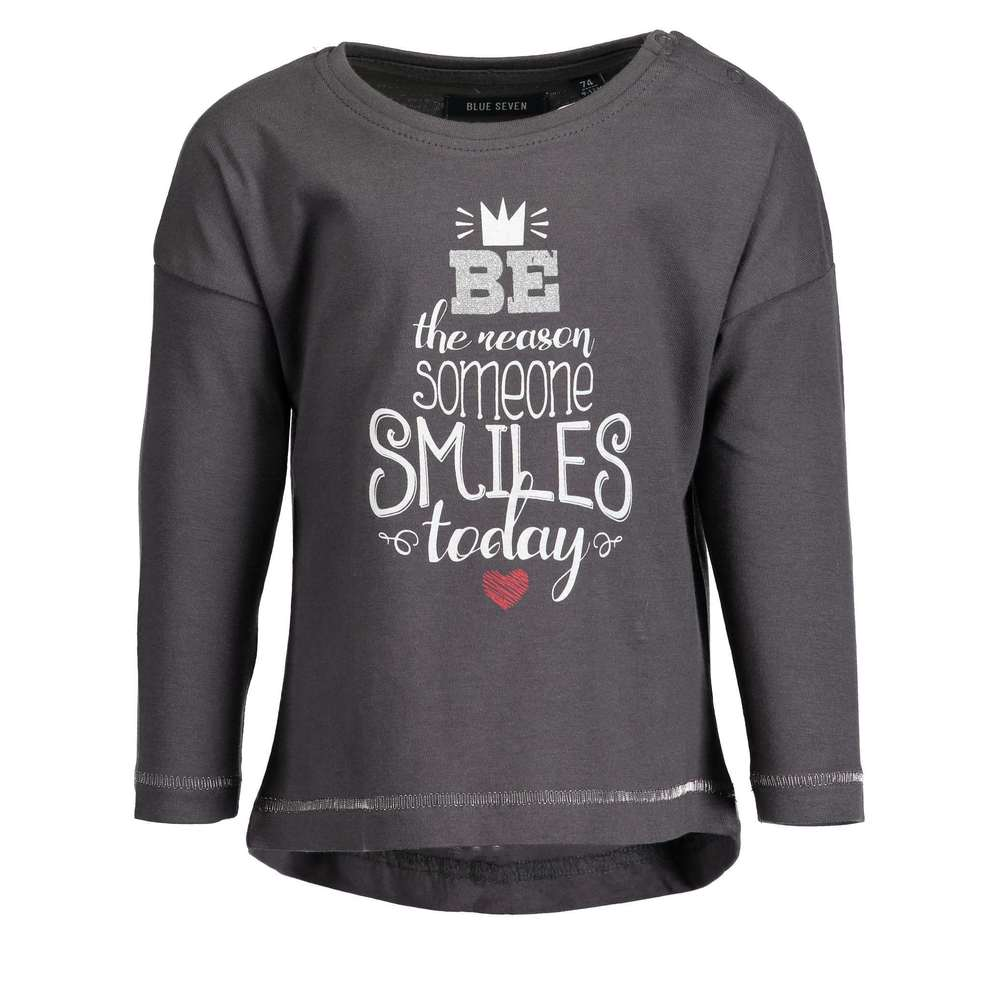 Shirtje 950524 'smiles' T Longsleeves Seven shirts Lm GrijsBlue IebE9YWDH2