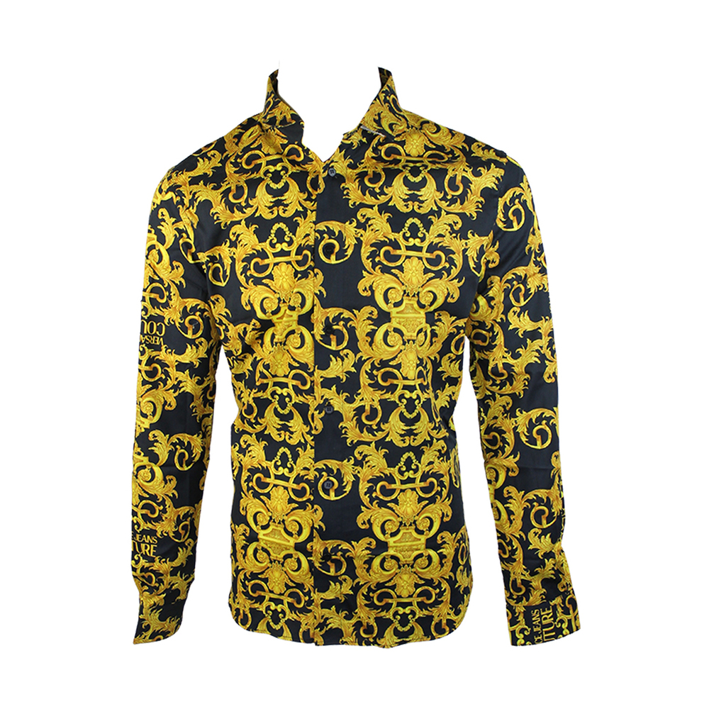 Se Versace Jeans Couture Barok Print Twill Shirt ved Miinto
