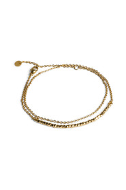 Bead Bracelet with Chain, gold-plated sterling silver