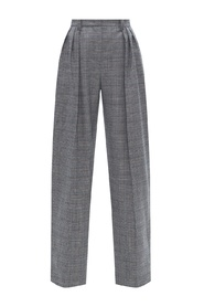 Checked wool trousers