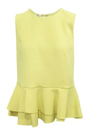 Crepe Top With Ruffles -Pre Owned Condition Excellent