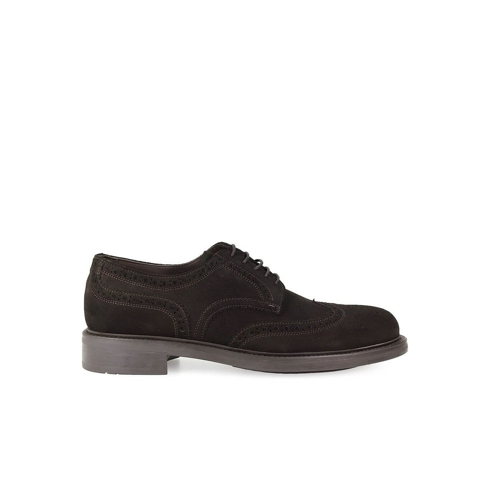 SUEDE DERBY LACE UP SHOES