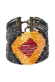 Pre-owned Boutique Masai Multi Strand Beaded Hook Bracelet