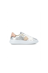 Temple sneakers metallic silver spoiler