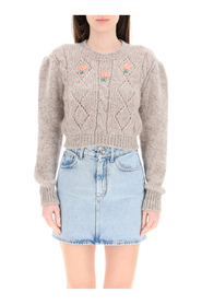short sweater with embroideries