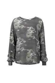 Blouse with Japanese print