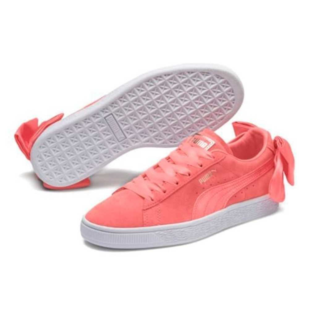 Suede Bow Sneakers