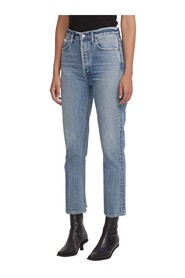 RILEY HIGH RISE STRAIGHT CROPPED PANTS