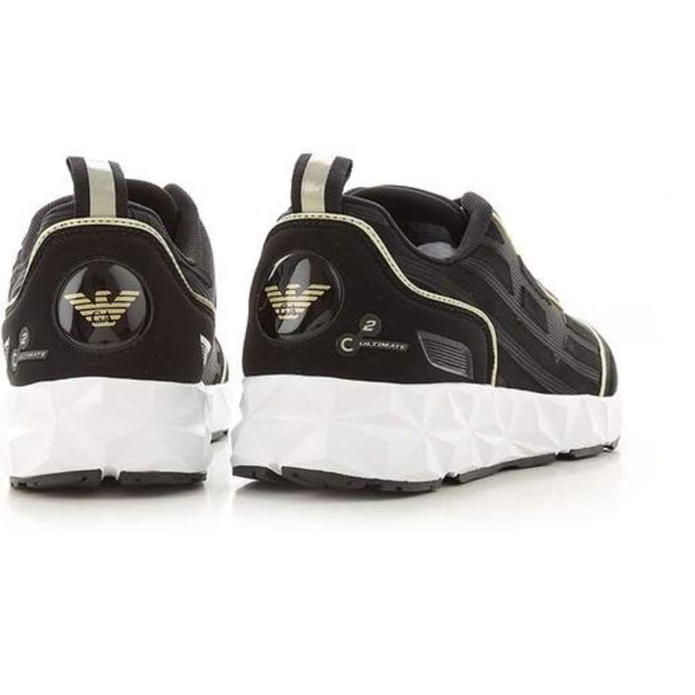 Black HIGH PARA SNEAKERS WITH LOGO | Emporio ArHereni EA7 | Sneakers | Herenschoenen