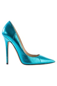 Electric Snakeskin Pointed Pumps
