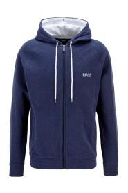 Double-face melange hoodie