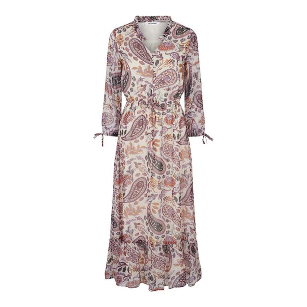 ENZEL PAISLEY FLOOR DRESS