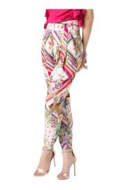 Pantalone ampio stampa flora