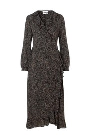 Imogene Maxi Wrap Dress Kjole