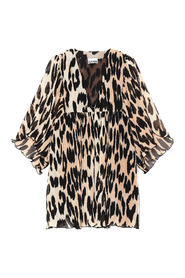 Leopard Oversized Mini Dress