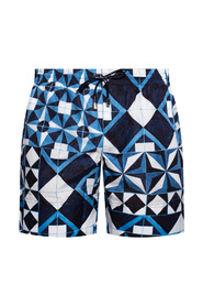 Patterned swim boxers