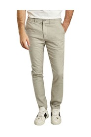 Chuck organic cotton and linen regular trousers