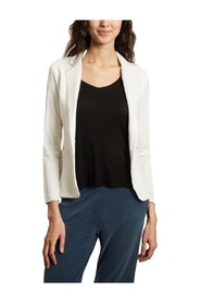 One-button 2 pockets fitted jacket