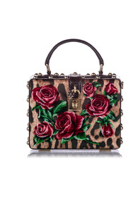 Rose Box Velvet Satchel Fabric Velour