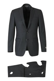Suit with micro-dot motif