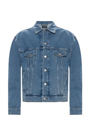 Vasket-out denim jakke