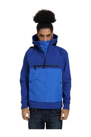 JACKET WITH HOOD AND HALF ZIP