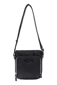 Messenger Bag in Faux with Two Pockets