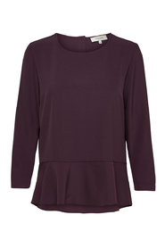 Long Sleeved Top Peplum -