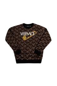 Sweatshirt with Greek print