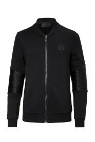 Sweatshirt zippé bimatière MJB0277 LOVE U