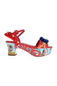 Handpainted Carretto Platform Heel